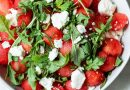 Watermelon Feta Salad with Arugula and Mint