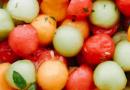 Melon Salad with a Citrus Honey Mint Dressing