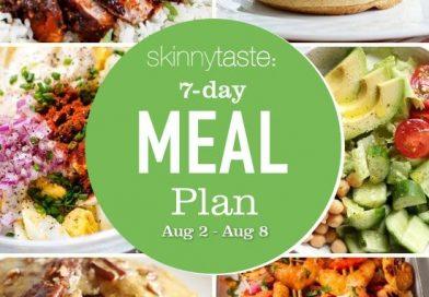 Skinnytaste Meal Plan (August 2-8)