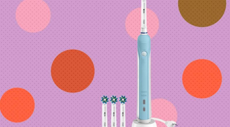 Bundle this Oral-B Pro 1000 electric toothbrush with a 3-pack of brush heads for $31