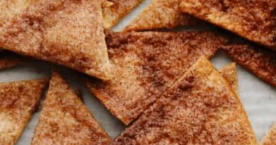 Easy to Make Cinnamon Sugar Tortilla Chips