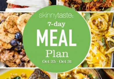 7 Day Healthy Meal Plan (October 25-31)